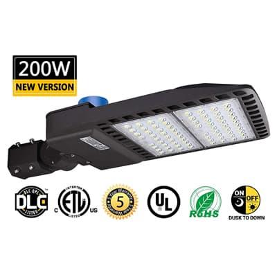 26000LM Daylight 5000K LED Shoebox Pole Lig.. 200W LED Parking Lot Lights New