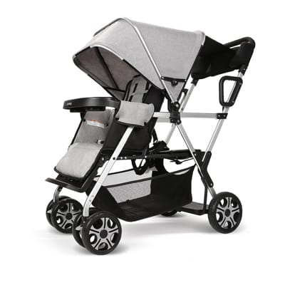7. Cynebaby Double Stroller-Twin Carrier Baby Stroller
