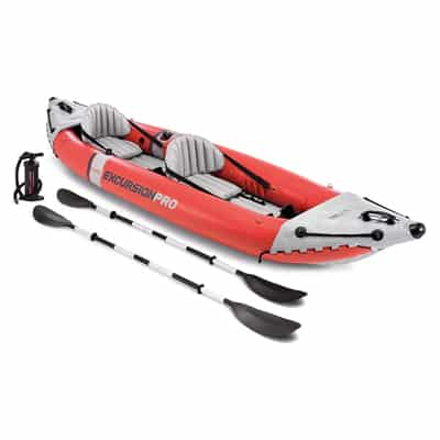 1. Intex Excursion Pro-Kayak, Professional Series Inflatable-Fishing Kayak