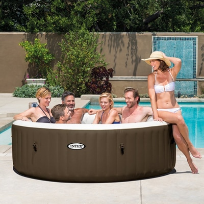 8. Intex Pure Spa Inflatable Bubble Jet Hot Tub
