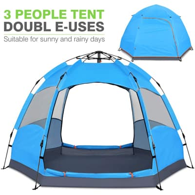 7. Victostar Instant Pop-Up Family Camping Tent