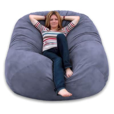 9. Cozy Sack 6-Feet Bean Bag Chair, Large, Grey