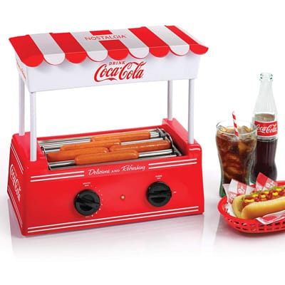 10. Nostalgia HDR565COKE Coca-Cola Hot Dog Roller