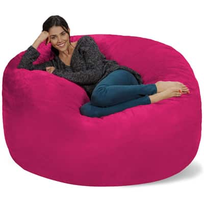 1.    Chill Sack Bean Bag Chair 5' Memory Foam Furniture Bean Bag