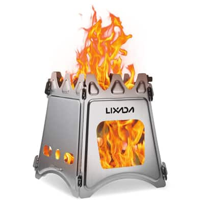 6. Lixada Camping Wood Burning Stove