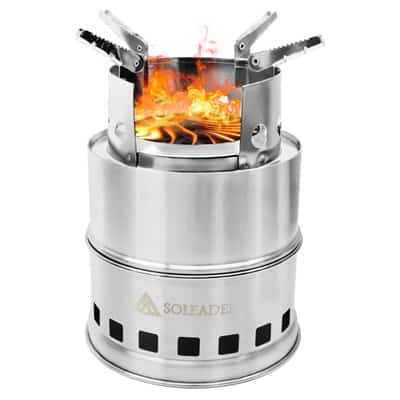 12. SOLEADER Portable Wood-Burning Camp Stoves