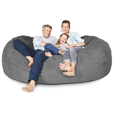 3. Lumaland Luxury 7-Foot Bean Bag Chair