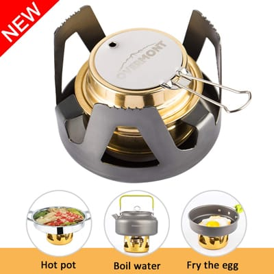 8. Overmont Ultra-light Camping Cookware Set Camping Stove