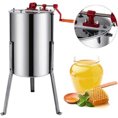 4 Frames Stainless Steel Manual Honey Extractor //w Holder Manual Beekeeping