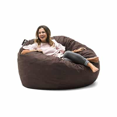 12. Big Joe 0010656 Foam-Filled Bean Bag Chair, Large, Cocoa Lenox