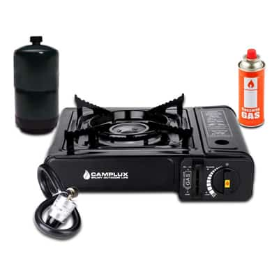 2. Camplux New Dual Fuel Single Burner Stove