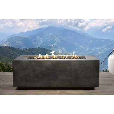 4. Century Modern Outdoor Large Concrete Propane Gas Outdoor Fire Pit