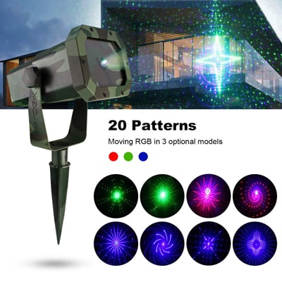 3. EVA LOGIK Premium Christmas Outdoor Waterproof Laser Projector Light