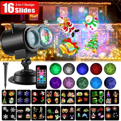 6. SOMKTN LED Christmas Projector Lights