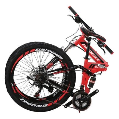 "5. EUROBIKE 26"" Full Suspension Mountain Bike"