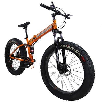8. SAIGULA Fat Tire Folding Mountain Bike