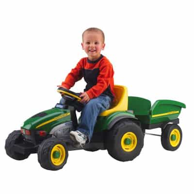 7. Peg Perego John Deere Farm Tractor and Trailer