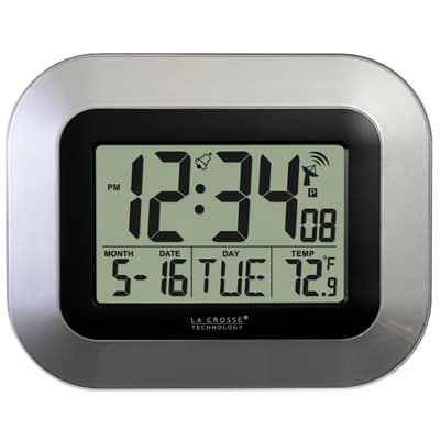 7. La Crosse Technology WT-8005U-S Atomic Digital Wall Clock