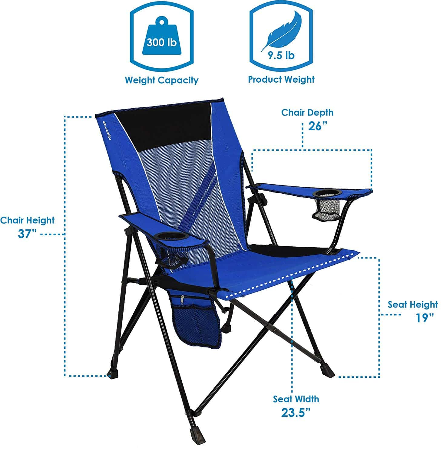 Admirable Top 14 Best Folding Lawn Chairs In 2019 Closeup Check Machost Co Dining Chair Design Ideas Machostcouk