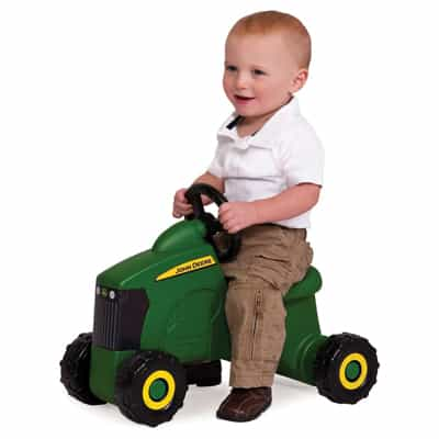 11. John Deere Sit-N-Scoot Tractor Toy, Green, One Size