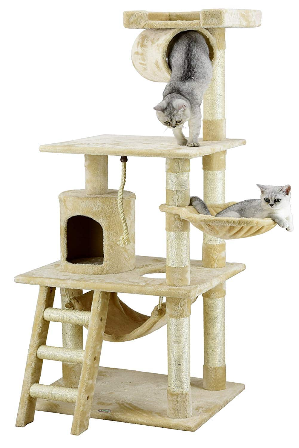 9. Go Pet Club 62-Inch Cat Tree