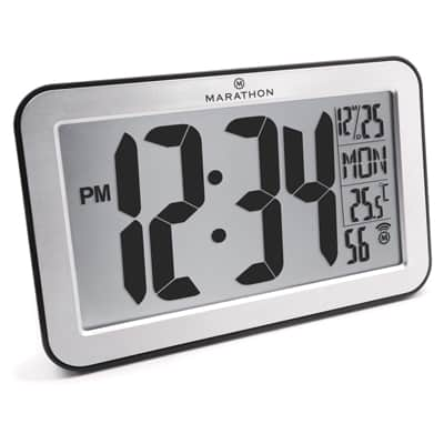 5. Marathon CL030033-SV Commercial Grade Panoramic Atomic Wall Clock