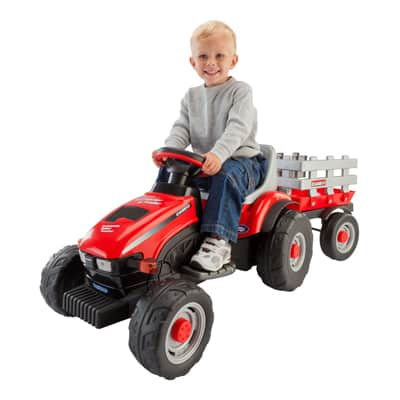 2. Peg Perego Case IH Little Tractor and Trailer