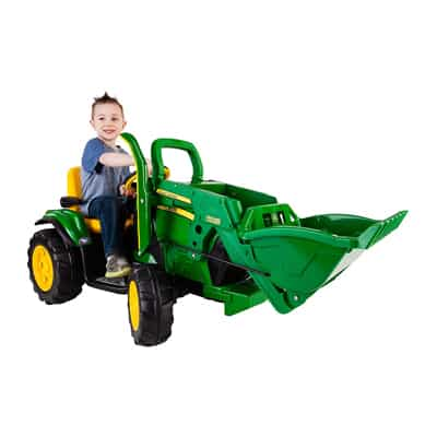 4. Peg Perego John Deere Ground Loader Ride On, Green