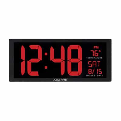 2. AcuRite 75127 Oversized LED Clock, 14.5