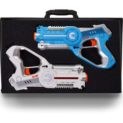 6. DYNASTY TOYS Family Games Laser Tag Set with Carrying Case