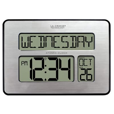 10. La Crosse Technology 513-1419-INT Atomic Full Calendar Clock