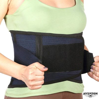 6. AVESTON Back Support Lower Back Brace Breathable Lumbar Support Belt