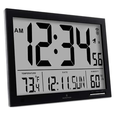11. MARATHON Atomic Digital Wall Clock