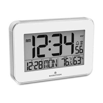 6. Marathon CL030060WH Designer Atomic Wall Clock