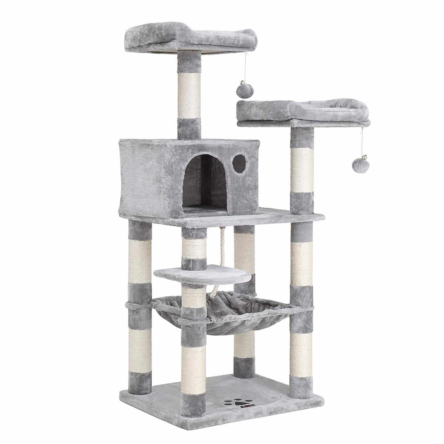 4. FEANDREA 58 inches Multi-Level Cat Tree