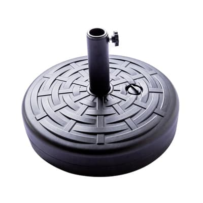 6. FLAME&SHADE Patio Weight Plastic Umbrella Holder Sand Water Fillable Round