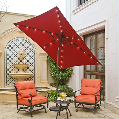 6. Aok Garden 9ft x 6ft Market Outdoor Umbrella