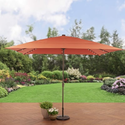 3. Better Homes and Gardens Rectangular Aluminum Market Patio Umbrella