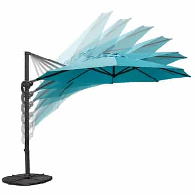 9. Sundale Outdoor 11 ft Offset Hanging Umbrella Market Patio Umbrella