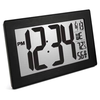 9. Marathon Atomic Self-Setting Self-Adjusting Wall Clock