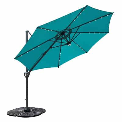 6. COBANA 10' Offset Patio Umbrella