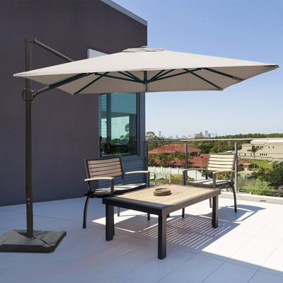 10. Abba Patio Rectangular Offset Patio Hanging Umbrella