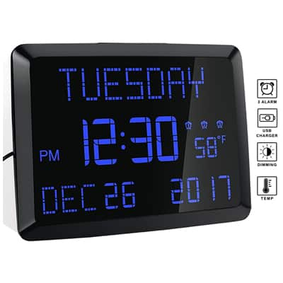 12. ROCAM Day Clock Desk & Wall Calendar Alarm Day Clock