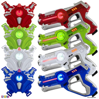 4. Play22 Original Infrared Laser Tag Set 4 Guns 4 Vests