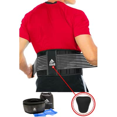 3. Prime Athletics Lower Back Support Belt for Back Pain Relief