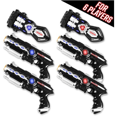 2. Power Tag Infrared Laser Tag Gun and Glove Set for Kids & Adults