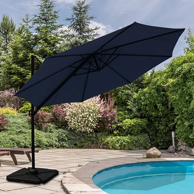 5. Patiorama Commercial Offset Cantilever Outdoor Patio Umbrella