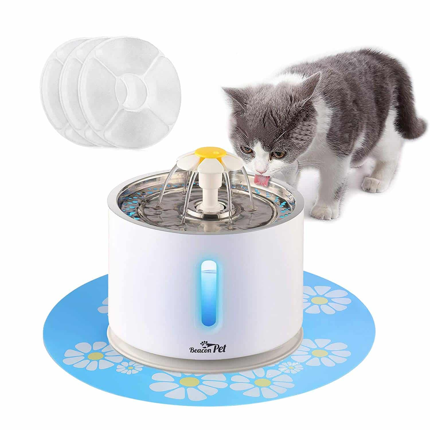 9. Beacon Pet Cat Water Fountain Stainless Steel