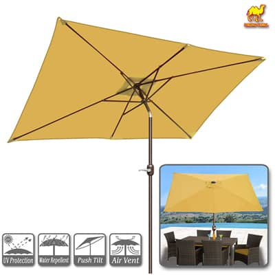 4. Strong Camel 10-FT Outdoor Market Patio Umbrella