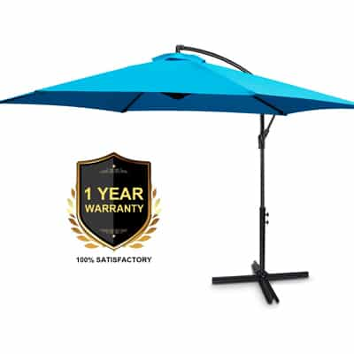 4. FRUITEAM Offset Patio Umbrella